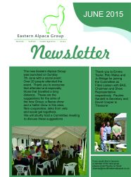 EAG Newsletter 1